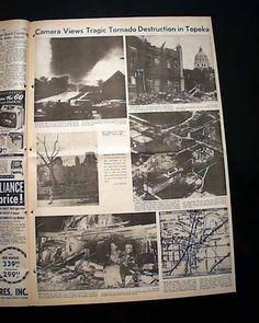 Topeka Kansas 1966 Tornado | Topeka KS Kansas Washburn University F5 Tornado Disaster 1966 Old ... Washburn University, Tornado Damage, Topeka Kansas, Love Parents, Old Newspaper, My Roots, Shawnee, Tornados, Extreme Weather