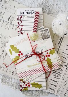 Santa Stationery Revisited - North Pole Stationery & Notepad by Melissa Phillips for Papertrey Ink (December 2014)