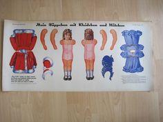 ELHA: Ausschneidebogen Nr.1: Mein Püppchen mit Kleidchen. Ca 1930 Wien 1030 | eBay