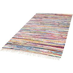 Forme's traditional Saari rag rugs feature a unique pattern in bright and joyful multicolours. Woven from recycled cotton, the easy-care Saari rugs will infuse any kitchen, hallway, bedroom and living room with a pleasant, rustic style.