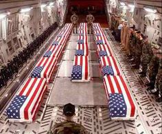 This is an image you don't see on the nightly news much anymore but just because our corrupt government wants to keep American Citizens desensitized and in the dark doesn't mean the coffins stop coming. Since 2001 there have been 1,827 such flag draped caskets  sent back from Afghanistan to the U.S. Wounded in action numbers total 15,460. Also, one U.S. soldier is currently being held as a prisoner of war since July 1, 2009.    Source: D.C.XPOSED (http://s.tt/1cRiI)