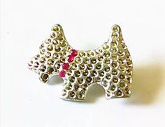 Vintage Scottie Terrier Rhinestone Brooch Pin by SimpleBlissVintage on Etsy