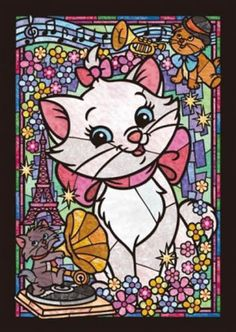 MarieCat Disney Stained Glass Cross Stitch Pattern Counted Cross Stitch Chart, Pdf Format, Instant Download /192275 by icrossstitchpattern on Etsy