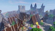 Epic Médiéval City Minecraft Project Minecraft medieval Minecraft blueprints Amazing minecraft