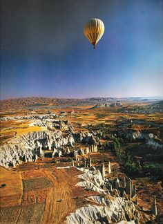 The Cappadocia and the Goreme valley  country : Turkey  place : in the middle of the country