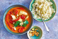Panang curry met bloemkoolrijst - Recept - Allerhande - Albert Heijn Thai Red Curry, Ethnic Recipes, Food, Google, Red Peppers, Essen, Meals, Yemek, Eten