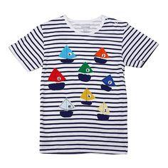 Sale 19% (5.99$) -  2015 New Little Maven Colorful Boat Baby Children Boy Cotton Short Sleeve T-shirt Top