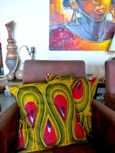 African wax printed fabric pillow cover in by DazzlingGypsyQueen, €22.95