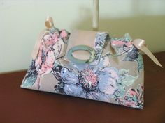 Cocoa  Grey Pastel Ribbon Clutch for Bridesmaids or by fancibags, $30.00