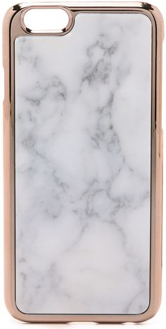 marble and rose gold iphone case