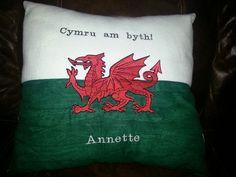 Handmade cushion with embroidery