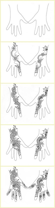 A blog post that explains what and how to add details to a henna design. http://blog.hennaart.ca/2012/10/workshop-wednesdays-progressive-bail.html
