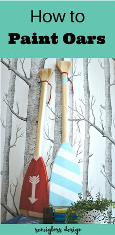 These painted oars are the perfect summer decor for that nautical touch! This easy DIY project tutorial comes with a coloring page to figure out your color scheme or patterns before painting. #semiglossdesign #summerdecor #paintedoars Woodworking Shows, Woodworking Projects That Sell, Woodworking Joints, Woodworking Patterns, Woodworking Crafts, Woodworking Plans, Woodworking Classes, Woodworking Furniture, Popular Woodworking