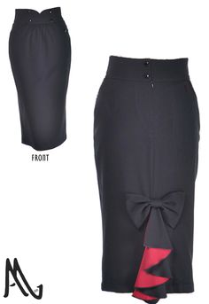 1940s Flounce Back Skirt by Amber Middaugh 2015  --One time Prototype Auction Ending 3-12-2015  This skirt will be custom made in winning bidders size.