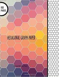 """Hexagonal Graph Paper: Hexagon Notebook Paper: 100 Pages, 8.5"""" x 11"""" Large Line Drawn Hexagon Shapes For Creative Crafts, Quilting, Design, Drawing (Hexagon Notebooks) (Volume 1): Blank Books 'N' Journals: 9781537648705: AmazonSmile: Books"""