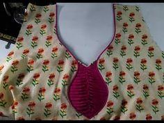 latest suit/back neck design cutting/stitching in Hindi Salwar Neck Patterns, Salwar Kameez Neck Designs, Kurta Neck Design, Chudithar Neck Designs, Neck Designs For Suits, Dress Neck Designs, New Kurti Designs, Simple Blouse Designs, Simple Blouse Pattern