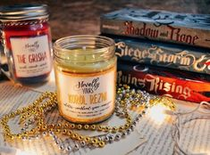 Celebrate the release of KING OF SCARS with our favorite privateer prince-turned-scarred king, Nikolai Lantsov! This candle has a natural masculine scent with plenty of outdoorsy notes and a light touch of the sea. Soy Candles, Candle Jars, Leigh Bardugo, Light Touch, Baking Ingredients, Book Worms, Earthy, Fragrance, Crows