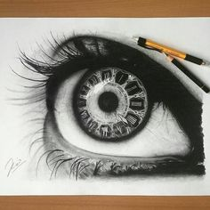 I love the art of eyes the drawing looks so realistic. (art of love drawing) Pencil Art, Pencil Drawings, Art Drawings, Eyes Artwork, Cool Artwork, Amazing Artwork, Eye Sketch, Drawing Sketches, Sketching