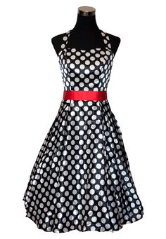 Black and Red Polka Dot 1950s Vintage Rockabilly by FDQVintage, £29.99