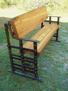 Arts and Crafts Bench by John Boyd Smith Metal Studios
