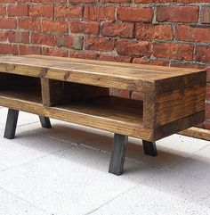 Contemporary rustic industrial tv stand unit cabinet or coffee table in home, furniture & diy, furniture, tv & entertainment stands Coffee Table Furniture, Cottage Furniture, Pallet Furniture, Furniture Ideas, Inexpensive Furniture, Furniture Design, Cheap Furniture, Recycling Furniture, Furniture Price