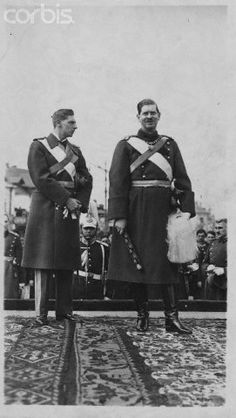 Germany --- Carol II, the King of Romania and Nicolas, the Prince of Romania. --- Image by © Hulton-Deutsch Collection/CORBIS Romanian Royal Family, Royalty, Prince, Military, King, Pictures, Photos, Descendants, Image