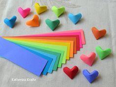 VENTA  Tiras de papel origami corazones cuenta por KatherinaKrafts