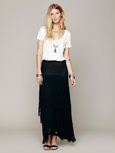 Free People Solid Fringe Maxi at Free People Clothing Boutique