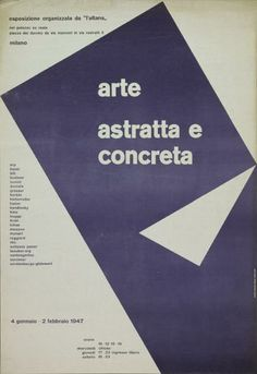 Max HuberArte astratta e concreta - Palazzo Ex Reale, Milano-Plakat