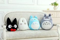 Super Cute Home Decor Warm Plush Stuffed Totoro Catoon Pillow for Christmas Gift