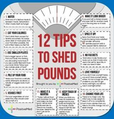 12 Tips to Shed Pounds!