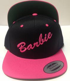 BARbie+Hat+Snapback+Black+Pink+Cap+by+winteriscoming2012+on+Etsy,+$20.00