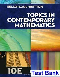 Understanding canadian business 8th edition nickels test bank test bank for topics in contemporary mathematics 10th edition by bello fandeluxe Images