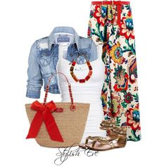 Too cute. Stylish Eve Outfits 2013: Quick and Stylish Floral Maxi Skirts