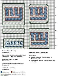 NY giants coasters