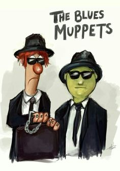 Beaker and Dr.Honeydew are - THE BLUES MUPPETS.