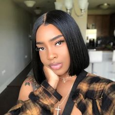 2020 Online popular Bob Wig At Mslynn Hair . If you love human hair bob cut wigs,then you're in the right place! Shop for your fave lace front bob wigs at Mslynn! Short Bob Hairstyles, Black Women Hairstyles, Weave Hairstyles, Short Black Haircuts, Urban Hairstyles, American Hairstyles, Bob Haircuts, Summer Hairstyles, Lace Front Wigs