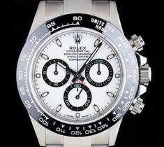 Rolex Cosmograph Daytona Stainless Steel White Dial Black Ceramic Bezel B&P 116500LN