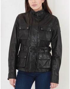 Belstaff Black Triumph Leather Jacket