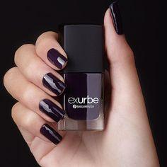 exurbe cosmetics veganer Nagellack Morning Jasmin Dark Purple, Ultra Violet, Nail Art Designs, Pink, Nail Polish, Make Up, Jasmin, Cosmetics, Nails