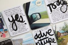 Project Life | week 26. Hand painted brushscript cards.