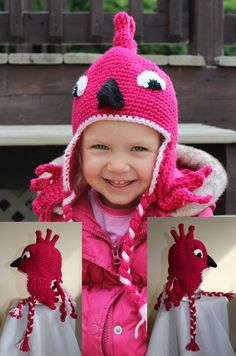 Penelope the Parrot Animal Hats, Crochet For Kids, Parrot, Custom Design, Infant, Crochet Hats, Children, Handmade, Character