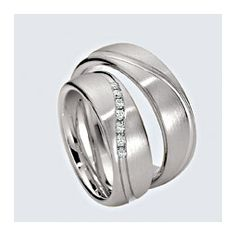 Wedding rings in 14 and 18 k white gold with diamonds. White Gold, Wedding Rings, Engagement Rings, Diamond, Jewelry, Wedding Ring Set, Rings, Jewels, Enagement Rings