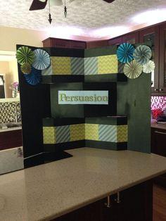 poster board ideas | Am A Happy Stamper: Tri-Fold Shutter Card ...