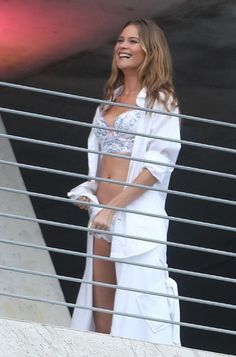 Behati Prinsloo Photos - Director Michael Bay spends the day in Miami with Alessandra Ambrosio, Adriana Lima, and Behati Prinsloo for a sexy Victoria's Secret lingerie photo shoot. - Victoria's Secret Shoot with Michael Bay Modelos Victoria Secrets, Michael Bay, Lingerie Photos, Behati Prinsloo, Victoria Secret Lingerie, Photo L, Adriana Lima, Two Piece Skirt Set, Photoshoot