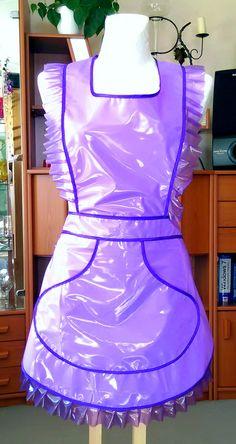 Salon Uniform, Maid Uniform, Nylons, Plastic Aprons, Blouse Nylon, Pvc Apron, Sissy Maids, Proper Attire, Staff Uniforms