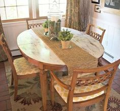 s 13 gorgeous ways to bring your worn kitchen table back to life, kitchen design, painted furniture