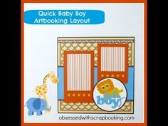 CTMH Artbooking Cricut Baby Boy Layout
