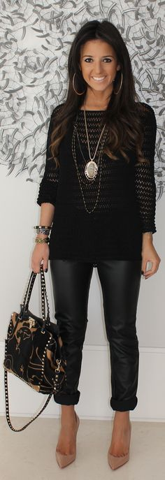 I would do a skinny black jean. Super cute.