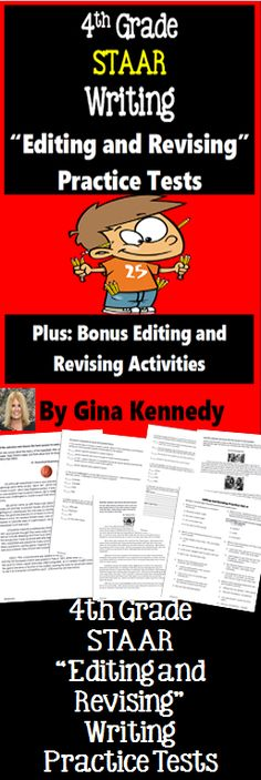 4th Grade STAAR Editing and Revising Practice Tests and Bonus Editing and…